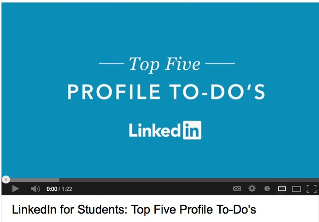 LinkedIn for Students: Top 5 Profile To-Do's