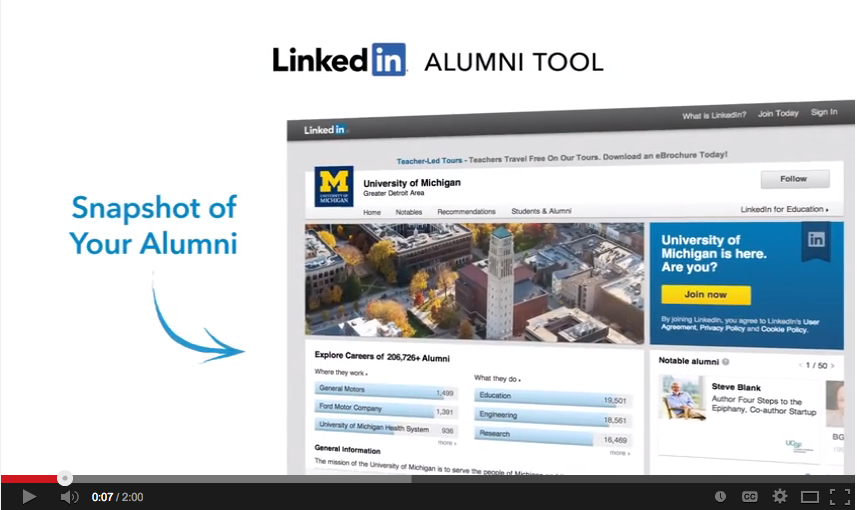 Alumni Tool Overview: Video