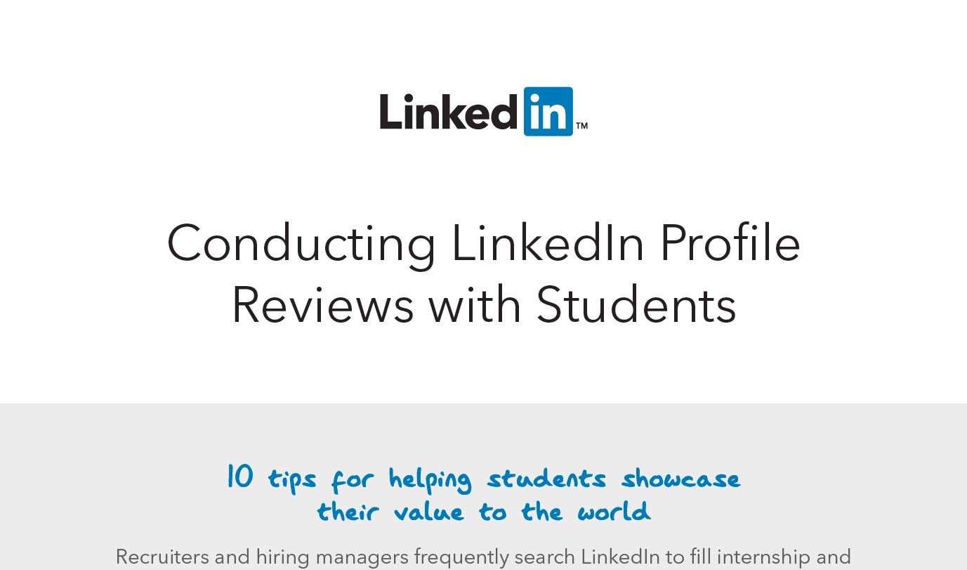 Conducting Profile Reviews with Students
